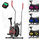 We R Sports 2-in-1 Elliptisch überqueren Trainer & Übung Fahrrad Innen- Zuhause Fitness Cardio- Training Maschine